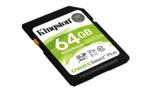 KINGSTON Memory Card Secure Digital Canvas Select Plus SDS2/64GB, Class 10