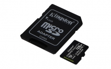 KINGSTON Memory Card MicroSD Canvas Select Plus SDCS2/128GB, Class 10, SD Adapter