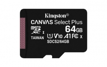 KINGSTON Memory Card MicroSD SDCS2/64GBSP, Class 10,no SD Adapter
