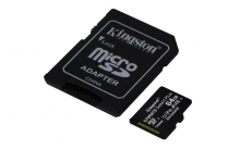 KINGSTON Memory Card MicroSD Canvas Select Plus SDCS2/64GB, Class 10, SD Adapter