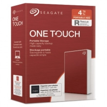 SEAGATE  HDD EXT. OneTouch HDD 4TB, STKC4000403, USB3.0, 2.5'', RED