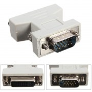 POWERTECH Adapter VGA 15pin male σε DVI-I 24+5 F,  συμβατό και με 24+1