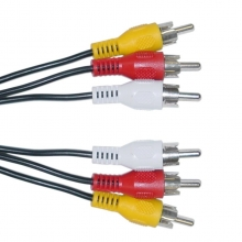 POWERTECH Καλώδιο 3x RCA Male σε 3x RCA Male (red, white, yellow), 1.5m