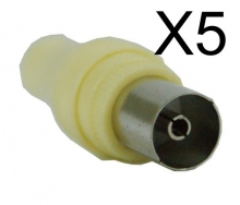 Powertech adapter PAL 9.5mm για TV F - 5TEM