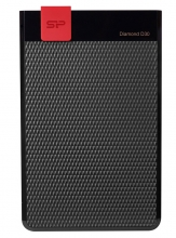 SILICON POWER Εξωτερικός HDD 1TB Diamond D30 D3S, USB 3.1, Black