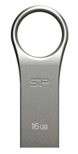 SILICON POWER USB Flash Drive Firma F80, 16GB, USB 2.0, Silver