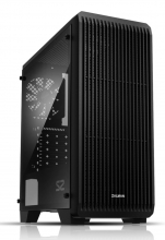 ZALMAN PC case S2, mid tower, 412x189x451mm, 1x fan, διάφανο πλαϊνό