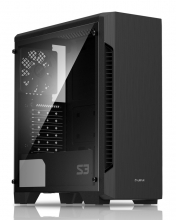 ZALMAN PC case S3 TG, mid tower, 424x196x462mm, 3x fan, διάφανο πλαϊνό