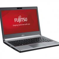 "FUJITSU used Laptop Lifebook E734, i5-4300M, 4/500GB HDD, Cam, 13.3"", FQ"